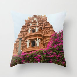 Divine towers of South India Throw Pillow