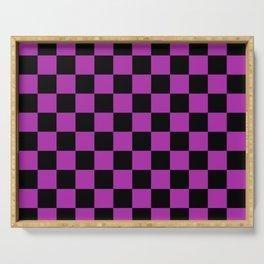 Checkered (Black & Purple Pattern) Serving Tray