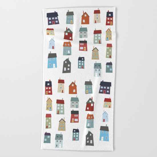 Little Houses Beach Towel