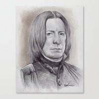 snape Canvas Prints featuring Alan Rickman as Professor Severus Snape by harrylime