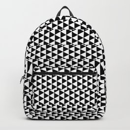 Pattern Collection. Black and White. Triangles Backpack