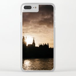 View over Westminster, Big Ben, London at Sunset Clear iPhone Case