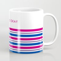 bisexual Mugs featuring Bisexual Is Okay by jess