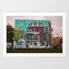Street Hockey Mural Art Print