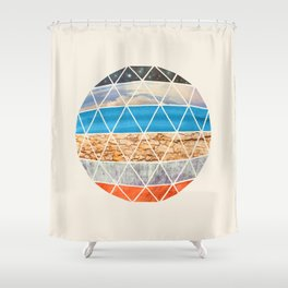 Eco Geodesic  Shower Curtain