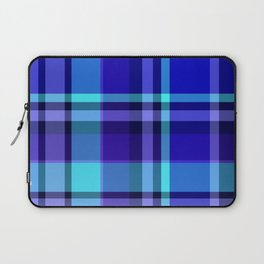 Blue Plaid Pattern Laptop Sleeve