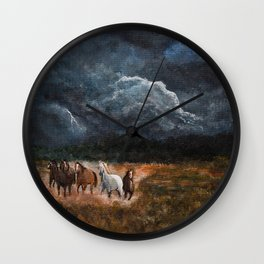 Lusitanian Wild Spirits Wall Clock