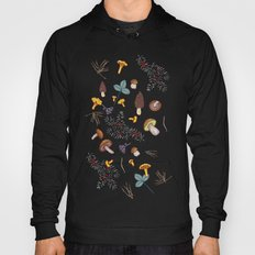 dark wild forest mushrooms Hoody