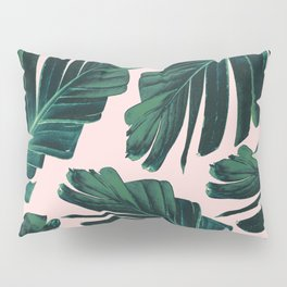 Tropical Blush Banana Leaves Dream #1 #decor #art #society6 Pillow Sham