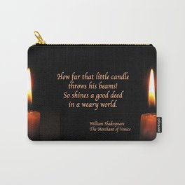 Shakespeare Candle Flame Carry-All Pouch
