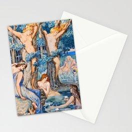12,000pixel-500dpi - Naiad And Dryad - Walter Crane Stationery Cards