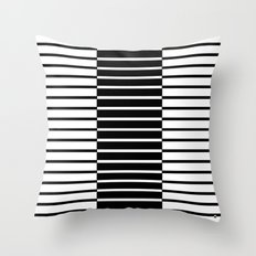 Zebras Play Piano Duet Throw Pillow