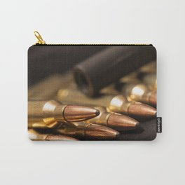 Bullets and Rifle Barrel Carry-All Pouch