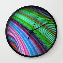Striped Vortex Wall Clock