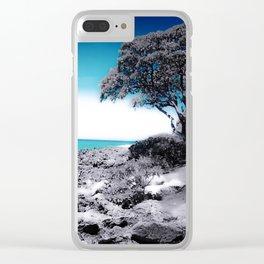 Hawaii Blues Clear iPhone Case