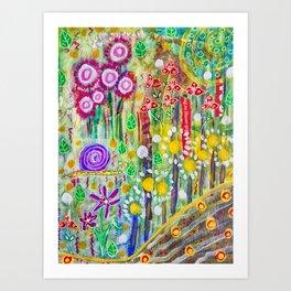Snail in the Grass Art Print