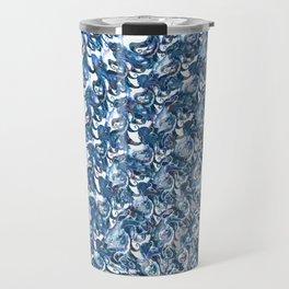 Blue Swirled Steel Travel Mug