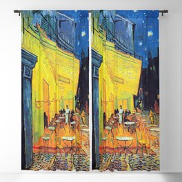 Vincent Van Gogh - Cafe Terrace at Night (new color edit) Blackout Curtain