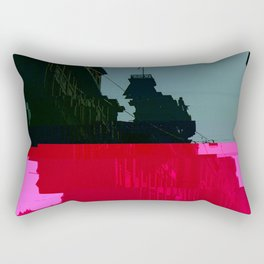 Trieste Glitch 01 Rectangular Pillow