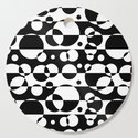 Black White Geometric Circle Abstract Modern Print by decampstudios