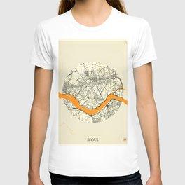 Seoul Map Moon T-shirt