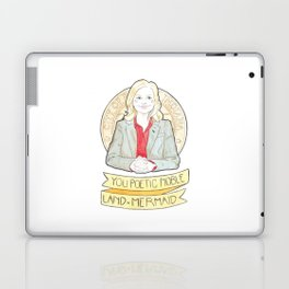 Leslie Knope of Parks & Rec Watercolor Illustration Laptop & iPad Skin