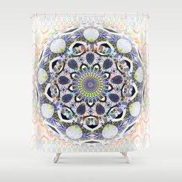 Boho Lace Love Mandala Shower Curtain