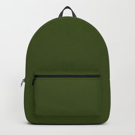 Dark Olive Green Sage - Pure And Simple Backpack
