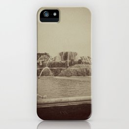 Chicago Buckingham Fountain Sepia Photo iPhone Case