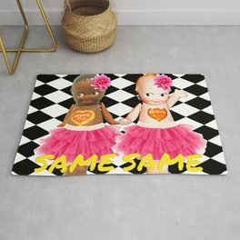 Kewpie Black White Same Same Rug