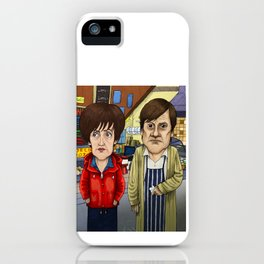 Roy and Hayley Cropper from Corrie iPhone Case