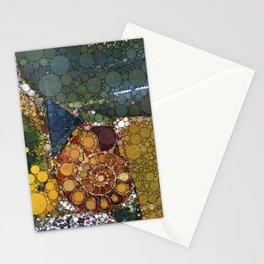 Granite Agate Quartz Snail Fossil Stationery Cards