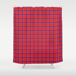 Maasai Shuka - Red, Blue, & White Shower Curtain