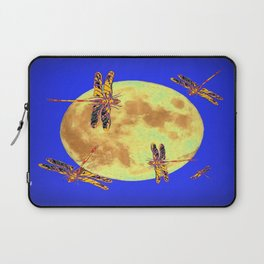 Golden Dragonflies Love Moon Light Laptop Sleeve