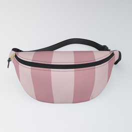 Pretty Pink Doll Bow Wide Cabana Stripes Fanny Pack