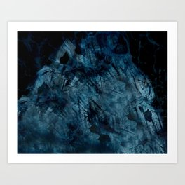 engulfed town Art Print