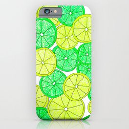 Lemons and Limes iPhone Case