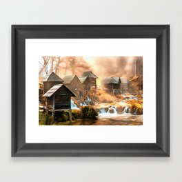 Watermills of Jajce Framed Art Print