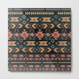 New Moon Boho Tribal Metal Print
