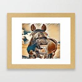 Laughing Jack Framed Art Print