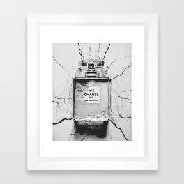 Broken perfume bottle Framed Art Print
