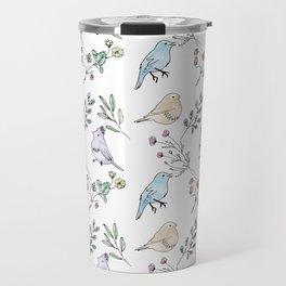 Watercolour birds Travel Mug