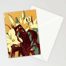 Spring is coming. Abstract vector image of beautiful lilies Stationery Cards