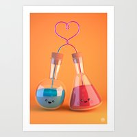 chemistry Art Prints featuring Chemistry by Chayground