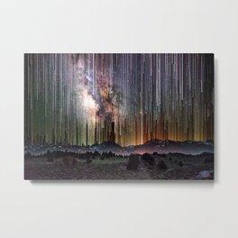 galactic rain by saturn kat Metal Print