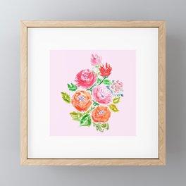 crayon flower Framed Mini Art Print