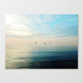 Freshwater Beach Meeting Canvas Print