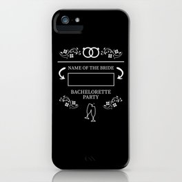 Personalized Bachelorette Party iPhone Case