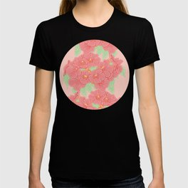 Trumpet Creeper Flowers Pattern T-shirt