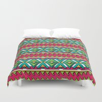 aztec Duvet Covers featuring Aztec by Shelly Bremmer
